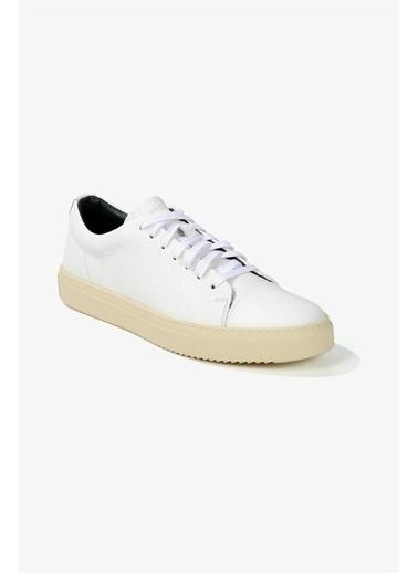 Krähe Corvo Beyaz Deri Minimal Sneaker Beyaz